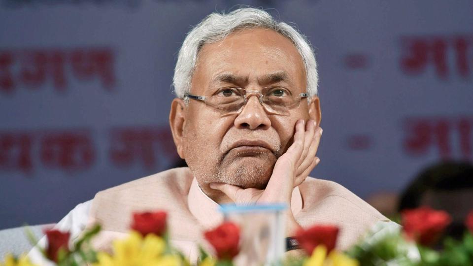 Bihar Chief Minister Nitish Kumar during 142nd birth anniversary celebration of Sardar Vallabhbhai Patel in Patna on Tuesday.
