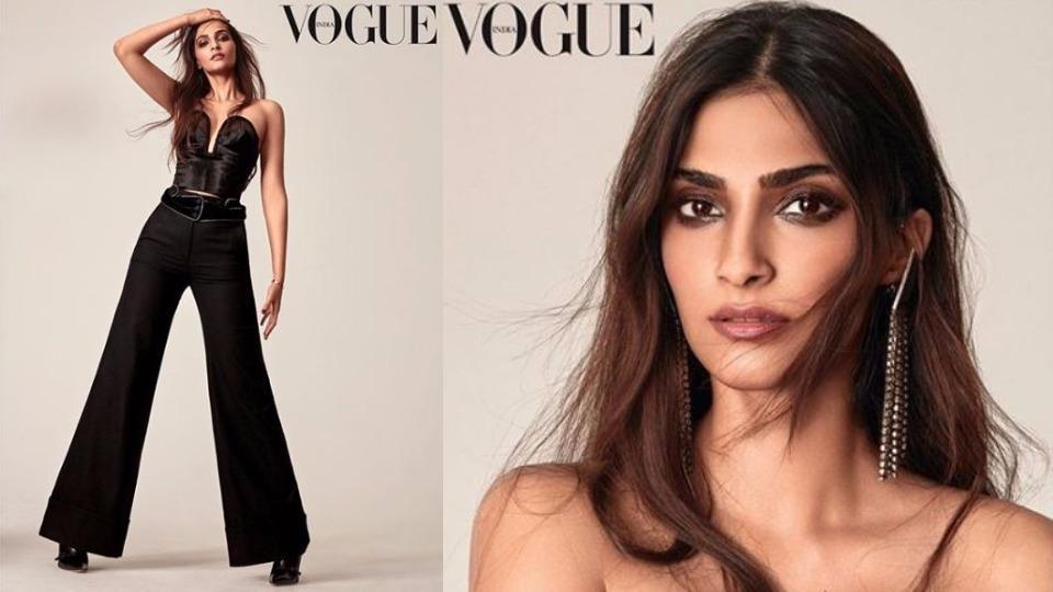 When in doubt, wear black, black, and only black. Learn how to spice it up from Sonam Kapoor, who was the picture of classy chic in all-black outfits for her latest Voge India photoshoot.