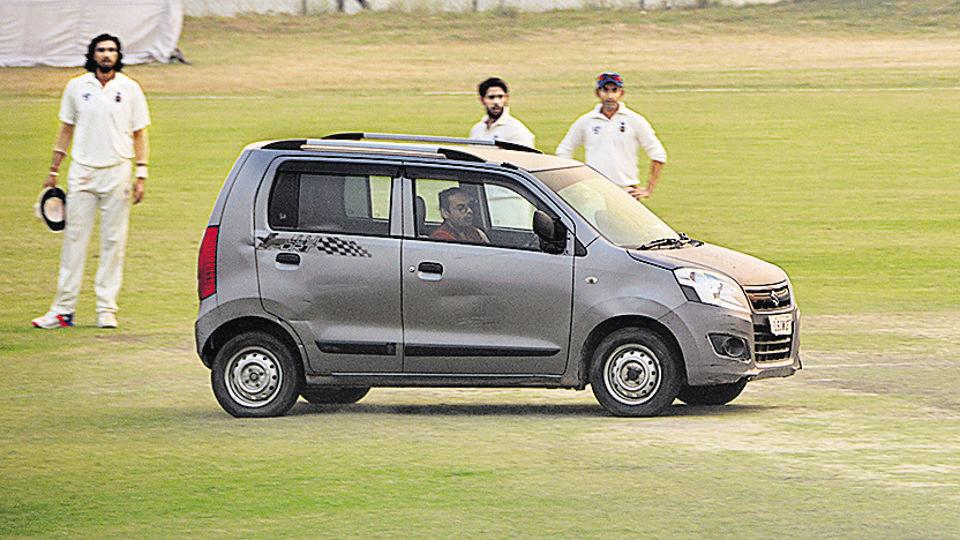 AK Sharma, the father of 'pitch inavder' Girish Kumar, claimed his son wasn't even aware that a Ranji game with international stars was taking place when he drove on to the ground on Friday.
