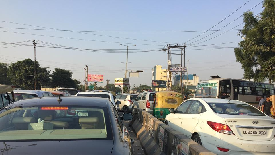 Worsening traffic condition is a major concern in Noida.