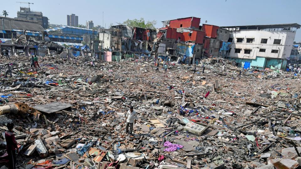 More shanties were demolished in Garib Nagar on Friday.