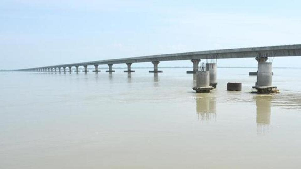 Asia's longest road bridge over the Brahmaputra river Dhola -Sadia bridge in Tinsukia District in Assam.