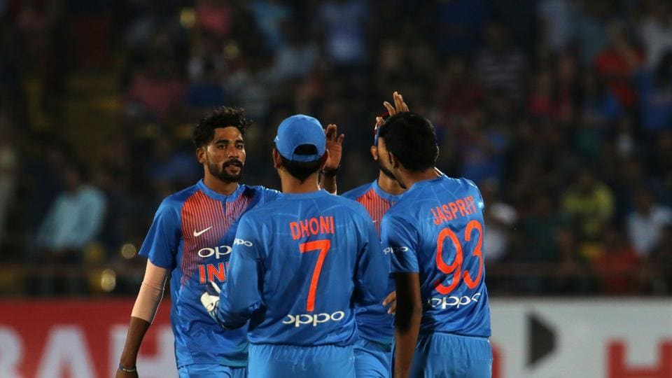 After going for plenty of runs in his opening overs, Mohammed Siraj got his first wicket as he dismissed Kane Williamson. (BCCI)