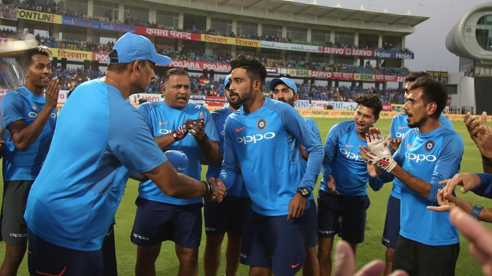 Ahead of the Rajkot Twenty20 International, Virat Kohli's Indian cricket team handed a debut to Mohammed Siraj. (BCCI)
