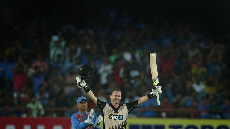 Colin Munro notched up his second century as New Zealand finished on 196/2 at the end of 20 overs.  (BCCI)