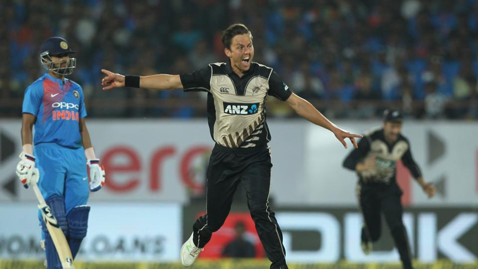 In response, India were jolted by Trent Boult who picked up the in-form Rohit Sharma cheaply.  (BCCI)
