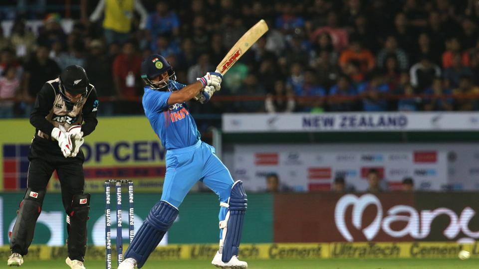 Virat Kohli struck some lusty blows as India stayed afloat in the game. (BCCI)