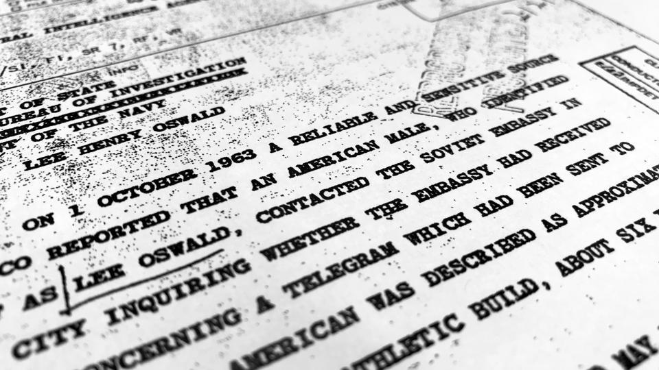 Part of a file from the CIA, dated Oct. 10, 1963, details