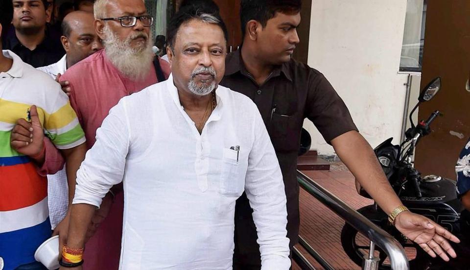 Senior Trinamool leader and Rajya Sabha MP Mukul Roy after announcing his resignation from the party in Kolkata