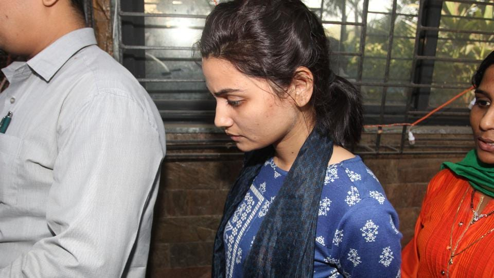 Shraddha Mangale was held for trying to extort Rs7 crore from Mopalwar on Friday.