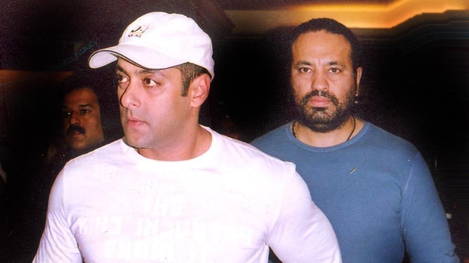 Salman Khan with his bodyguard Shera.
