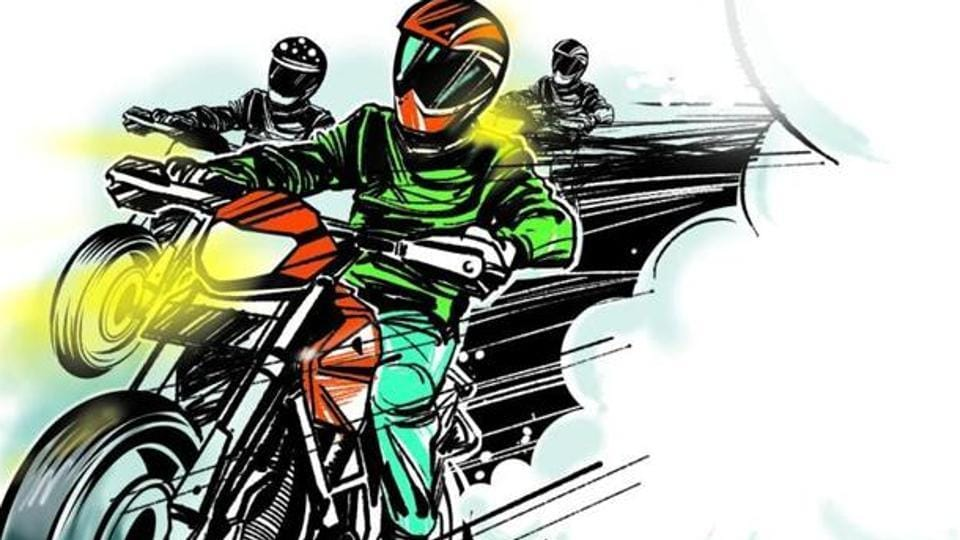 Four of the bikers were also booked for manhandling and obstructing police officials.
