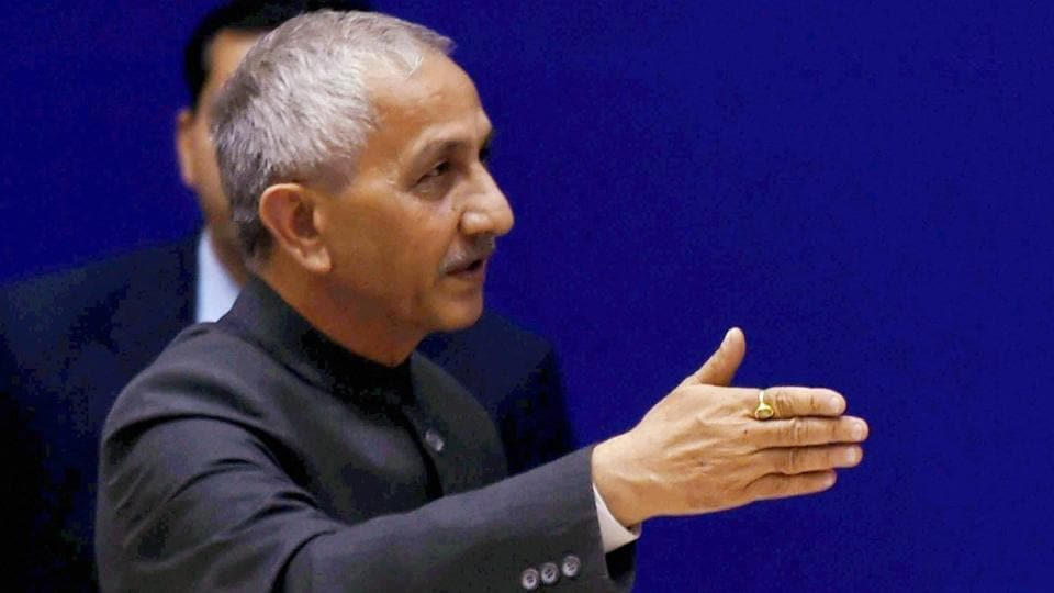 Former IB Director Dineshwar Sharma during the 28th Intelligence Bureau Centenary Endowment Lecture in New Delhi in 2015.