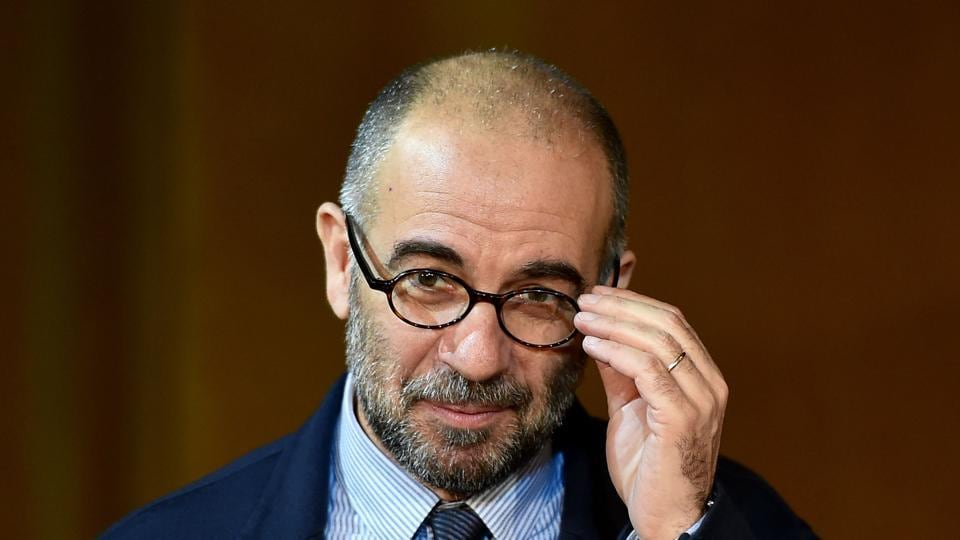 This file photograph shows Italian director Giuseppe Tornatore at an event in Rome. He has denied assaulting a showgirl as the Academy Award-winning filmmaker became the latest in the entertainment world to be accused of sexual harassment.