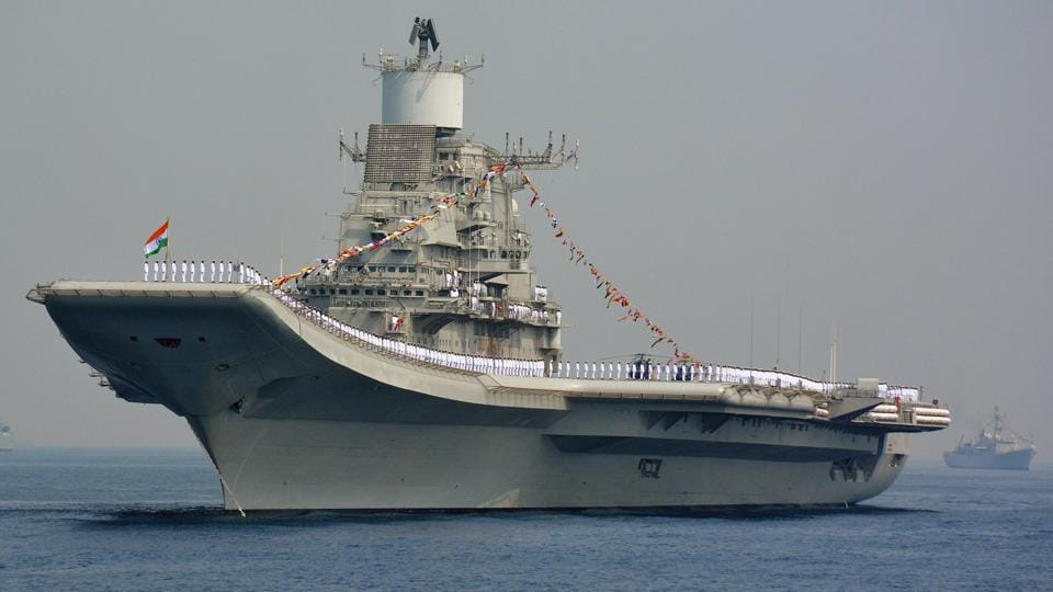 A US team visited India's sole aircraft carrier INS Vikramaditya on October 31.