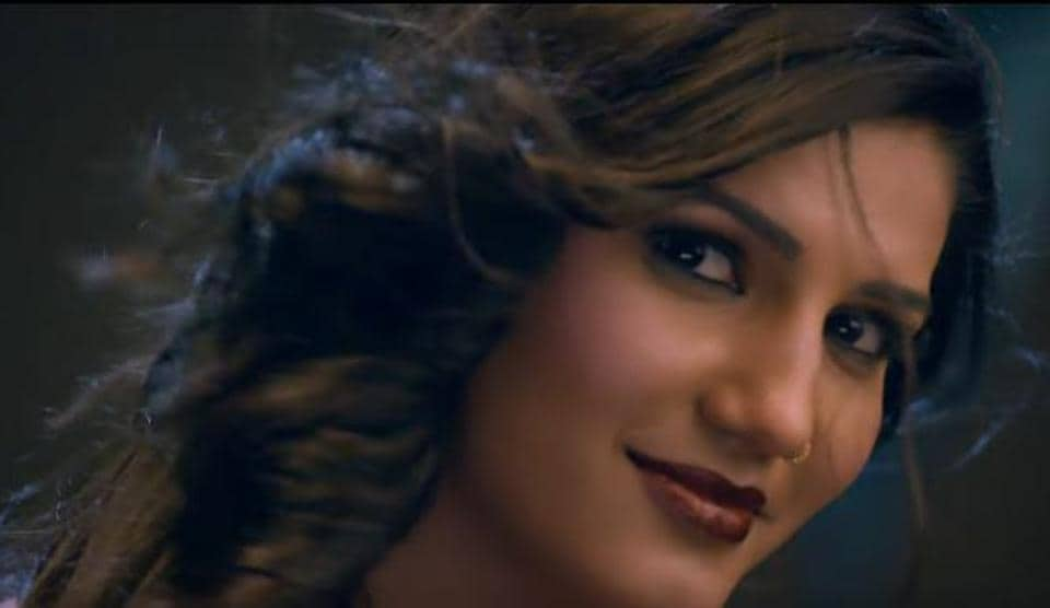 Sapna Choudhary in a still from her Bollywood debut song, Love Bite.