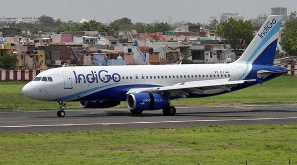 An IndiGo Airlines aircraft lands at the Sardar Vallabhbhai Patel international airport in Ahmedabad. (REUTERS File Photo)
