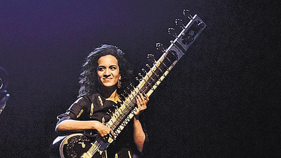 Anoushka Shankar at Shanmukhananda Hall in Mubai on Sunday.