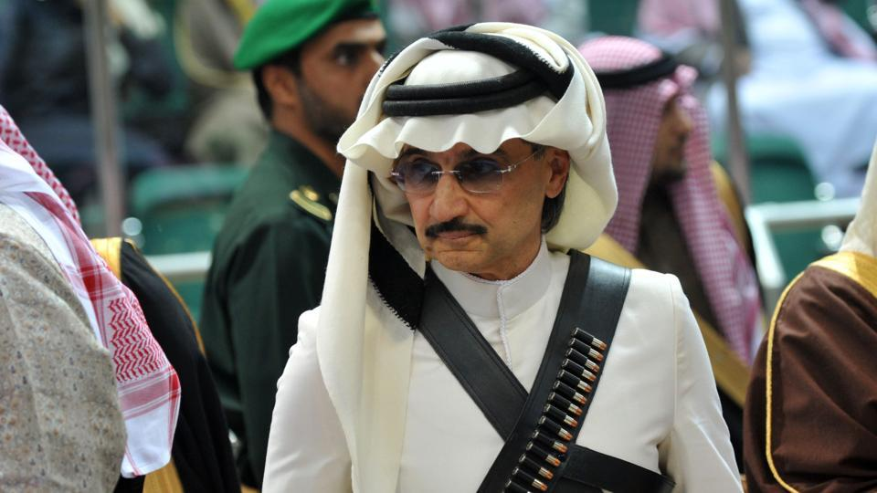 Saudi billionaire Prince Alwaleed bin Talal in Riyadh in 2014. The prince was among 10 princes arrested along with dozens of former government ministers on November 4, 2017.