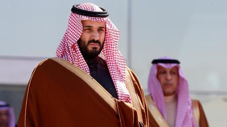 Saudi Deputy Crown Prince Mohammed bin Salman attends a graduation ceremony and air show marking the 50th anniversary of the founding of King Faisal Air College in Riyadh, Saudi Arabia, January 25, 2017
