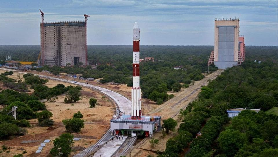 India's eighth navigation satellite IRNSS-1H being readied for launch at Sriharikota.