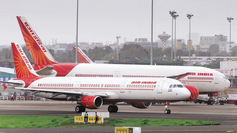 Air India aircraft at Mumbai International Airport.