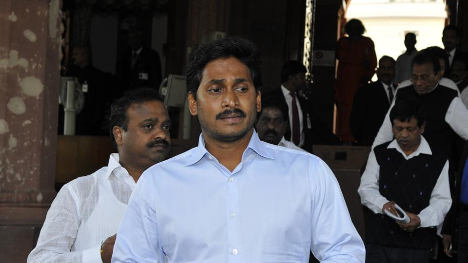 YSR Congress president YS Jaganmohan Reddy at Parliament house in New Delhi in February 2014.