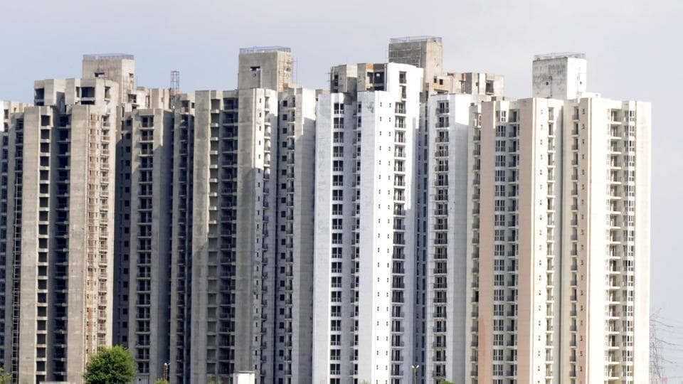 Construction stopped at Jaypee Aman at sector 151, in Noida.