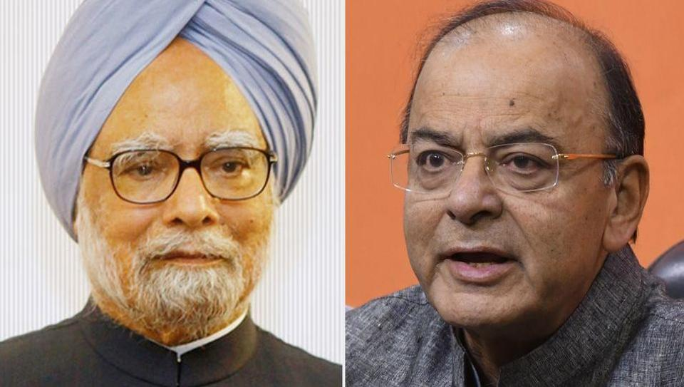 "While Manmohan Singh said ""demonetisation was an organised loot and legalised plunder"",  finance minister Arun Jaitley said the loot was what happened in 2G scam, Commonwealth Games and the allocation of coal blocks."