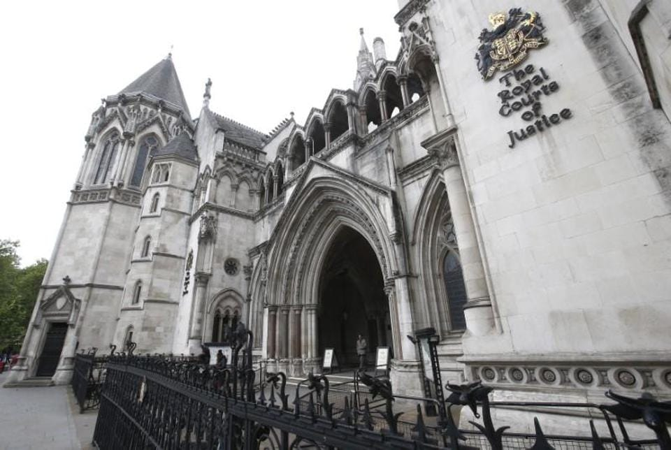File photo of the British high court.