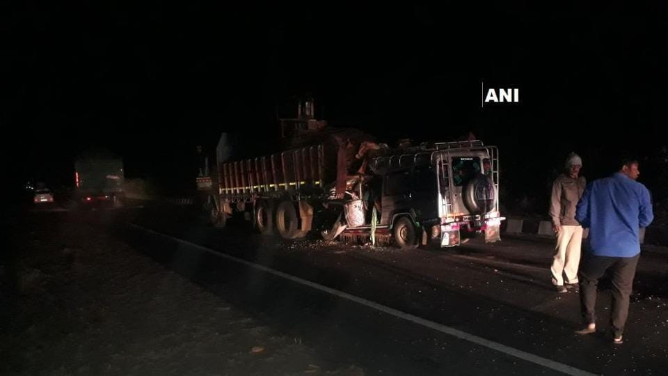 13 people died and eight others were injured after a jeep rammed into a truck in Gujarat's Kheda district.