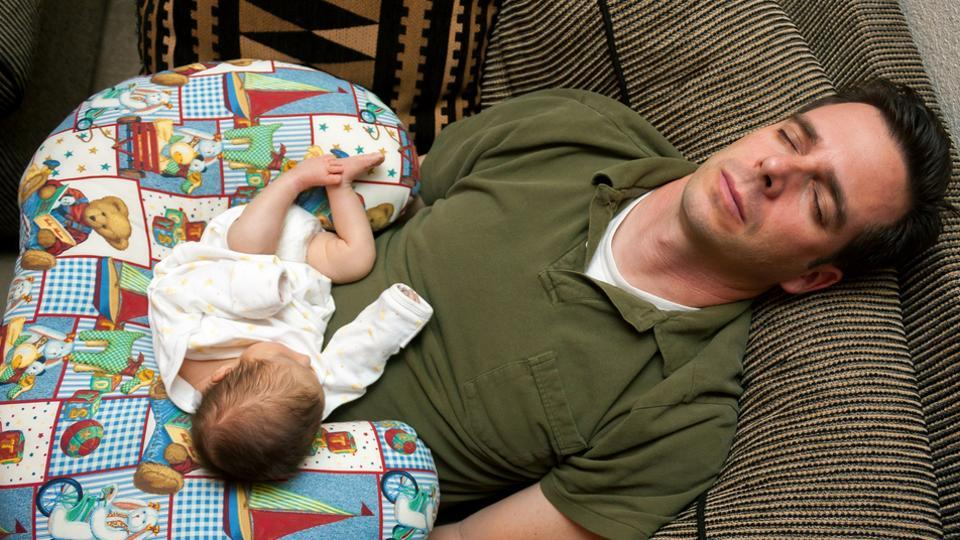 Babies of depressed parents tend to receive less stimulation which could lead to slower development.