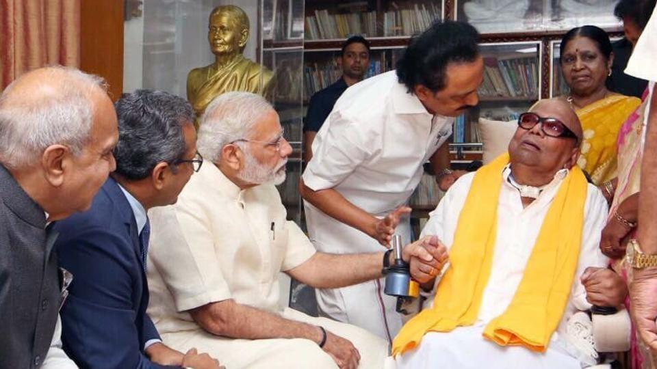 PM Modi,M Karunanidhi,DMK