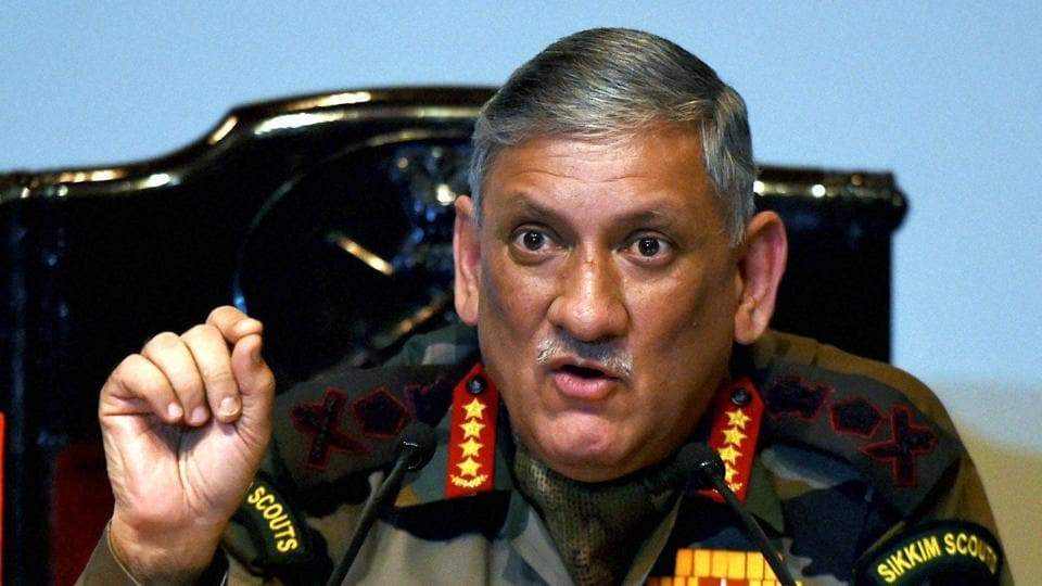 Army chief General Bipin Rawat said the Army would neutralise any terrorists entering Indian territory.