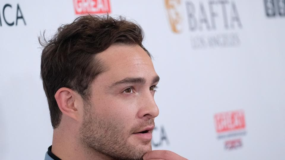 Ed Westwick attends the BAFTA Los Angeles TV Tea Party party at the Beverly Hilton hotel in Beverly Hills.