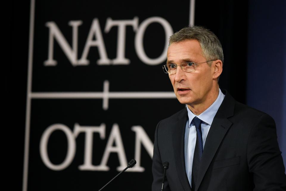 Nato secretary-general Jens Stoltenberg at a press conference in Brussels on November 7, 2017.