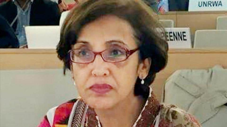 A file photo of Tehmina Janjua, Pakistan's first woman foreign secretary.