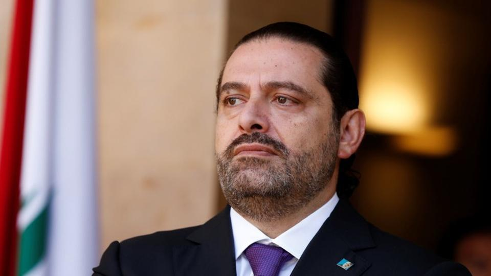 Lebanon's Prime Minister Saad al-Hariri is seen at the governmental palace in Beirut on October 24, 2017.