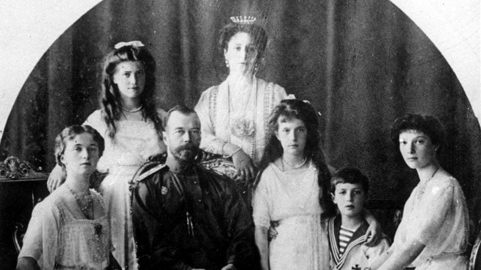 Russia's last Czar Nicholas II (second from left), and family in an undated photo. The Bolshevik revolution's success would not have been possible had the monarchy not been toppled just months before in the outcome of the February Revolution. The downfall of the 300-year old Romanov dynasty in 1917 coupled with the burdens of World War I set in motion a series of events that brought Lenin and the Bolsheviks into power. (AP)