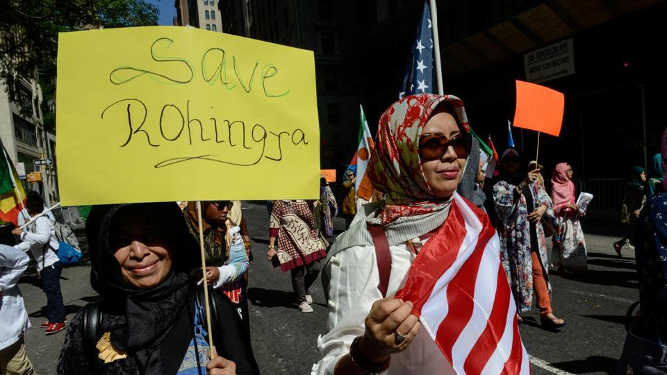 Rex Tillerson's visit to Maynmar comes at a time when the Trump administration is considering declaring the crackdown on Rohingya Muslims as 'ethnic cleansing'