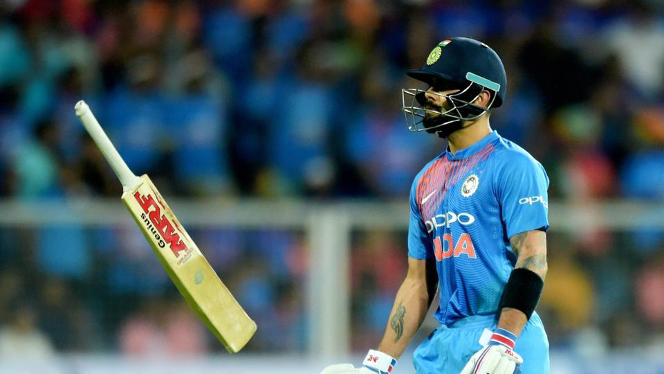 Virat Kohli made 13 off 6 balls before being dismissed by Ish Sodhi.  (PTI)
