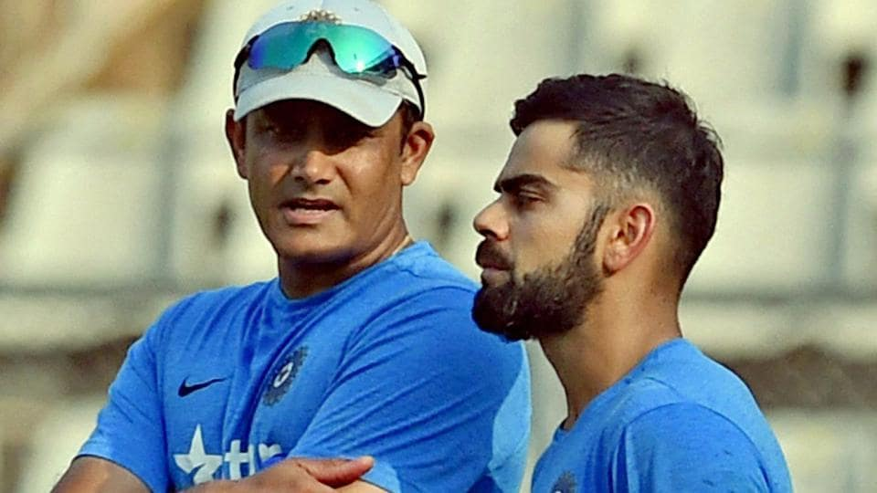 Anil Kumble,Virat Kohli,Indian cricket team