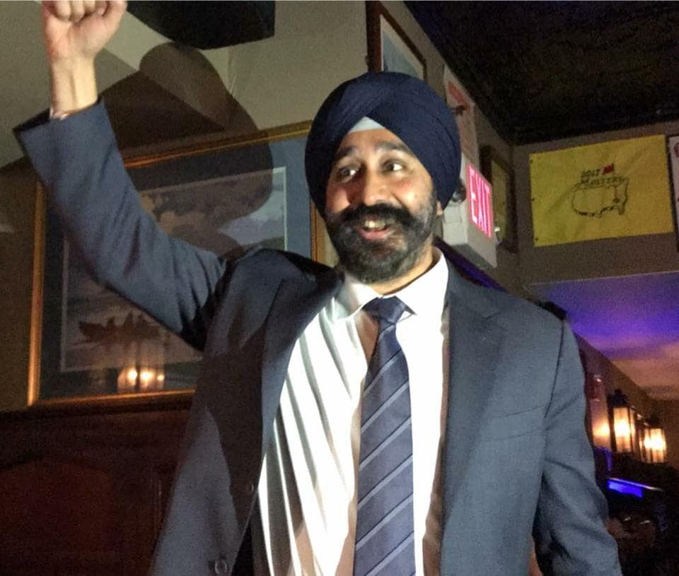 Ravinder Bhalla, who has been a member of the city council for more than seven years, won the election on Tuesday.