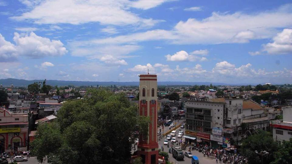 A bird's eye view of Dehradun.