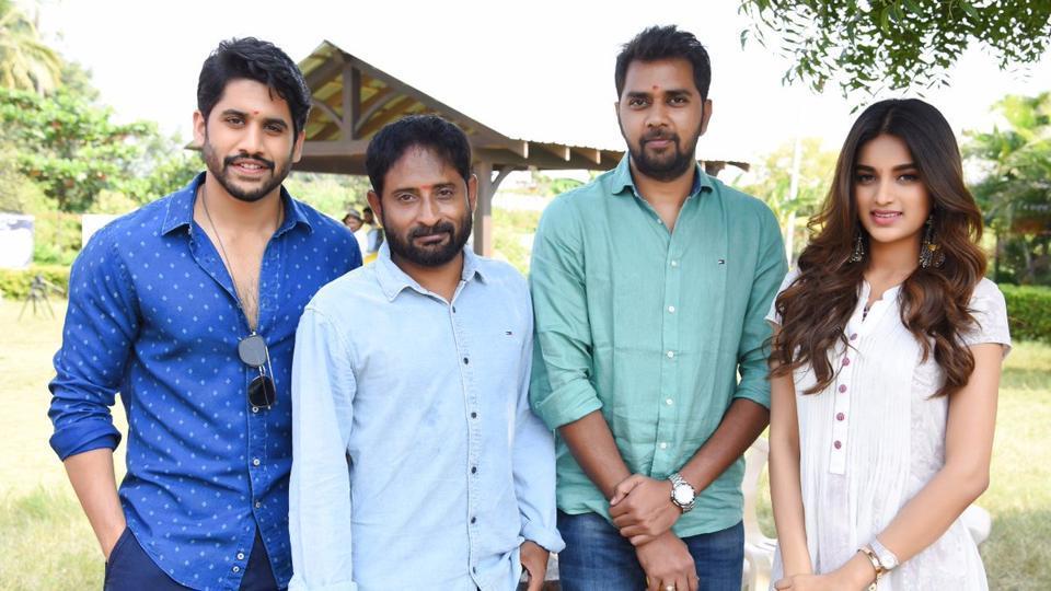 Naga Chaitanya begins shoot for his upcoming film Savyasachi with actor Nidhi Agerwal.