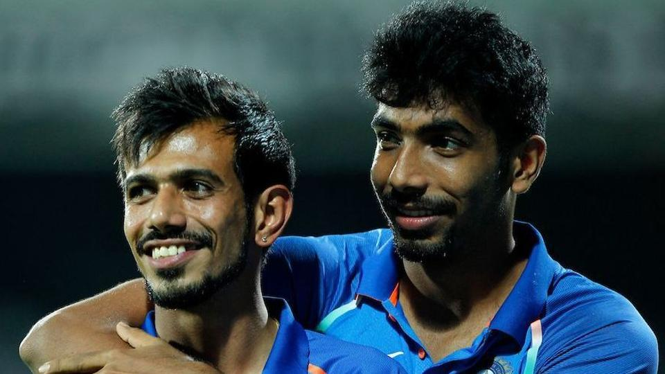 Yuzvendra Chahal (L) and Jasprit Bumrah played a big role in securing India's series win over New Zealand.