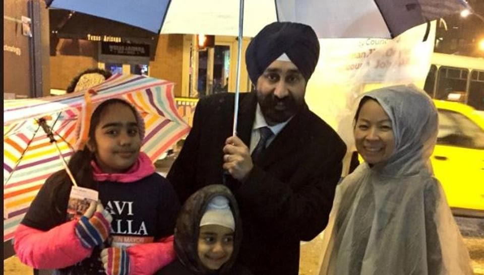 """""""Thank you for having faith in me, for having faith in our community, faith in our state, and faith in our country; this is what America is all about,"""" Bhalla, the mayor-elect of Hoboken, New Jersey, told supporters."""