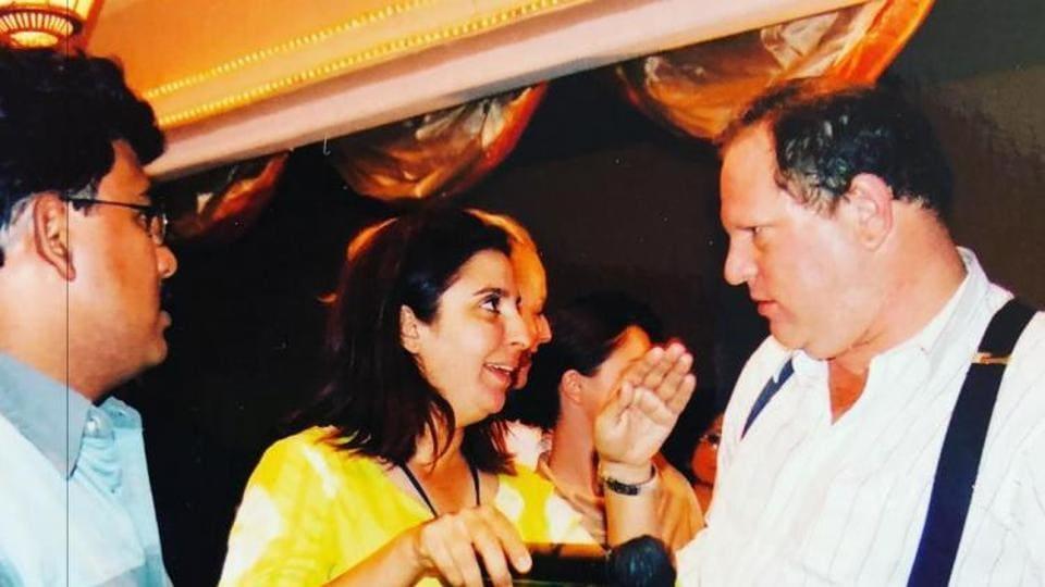 Farah Khan met Harvey Weinstein on the sets of Main Hoon Na in 2003.