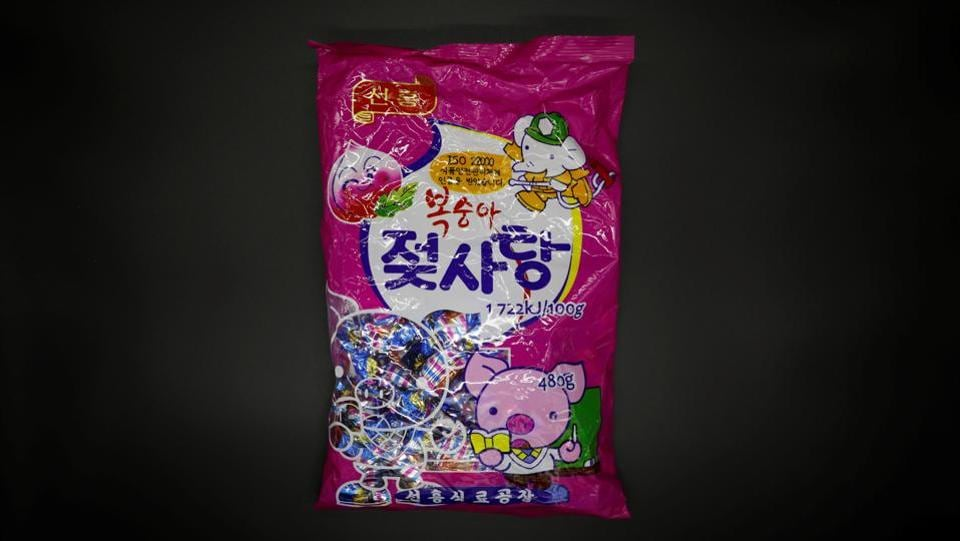 North Korean candy is seen at a specialty store in Seoul. North Korea does not produce sugar, instead importing its share from China's global export quota. According to the International Sugar Organization, the North's sugar consumption is fairly steady at around 89,000-90,000 tonnes a year – a modest amount per head. Each South Korean consumes about nine times more than that. (Kim Hong-Ji / REUTERS)