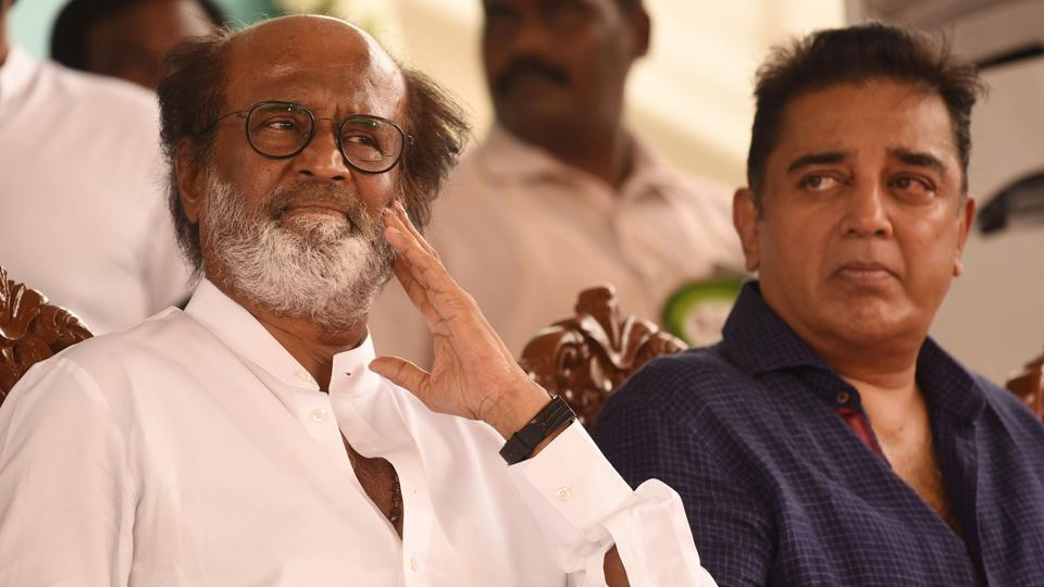 There is nothing at the moment to suggest that either Kamal Haasan or Rajinikanth or any other actor is riding on a political wave that'll make a difference in Tamil Nadu